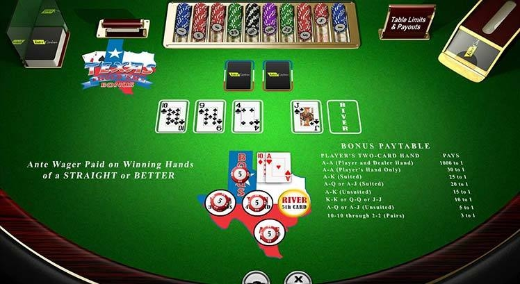 casino table game texas holdem