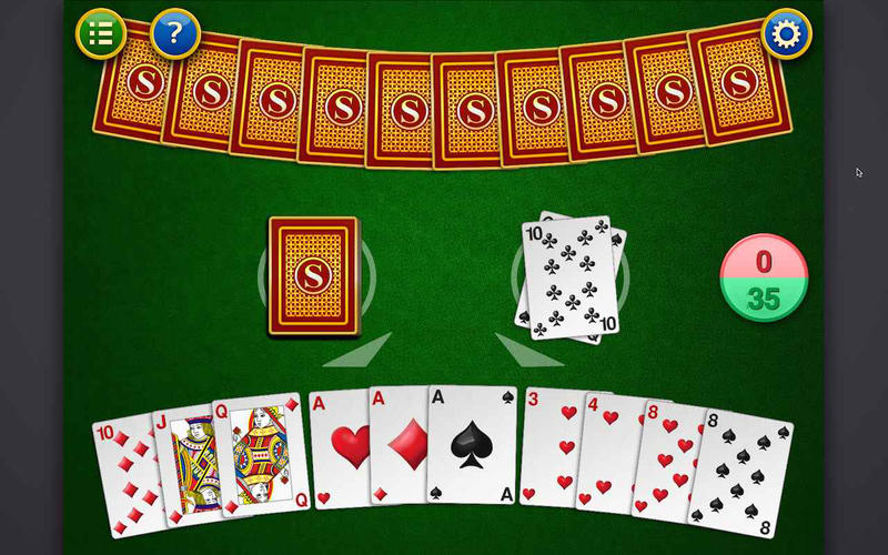 Gin Rummy Table