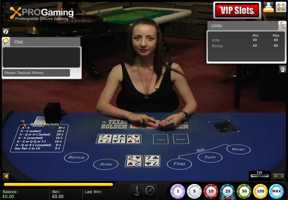 Live Dealer Texas Holdem Poker 2