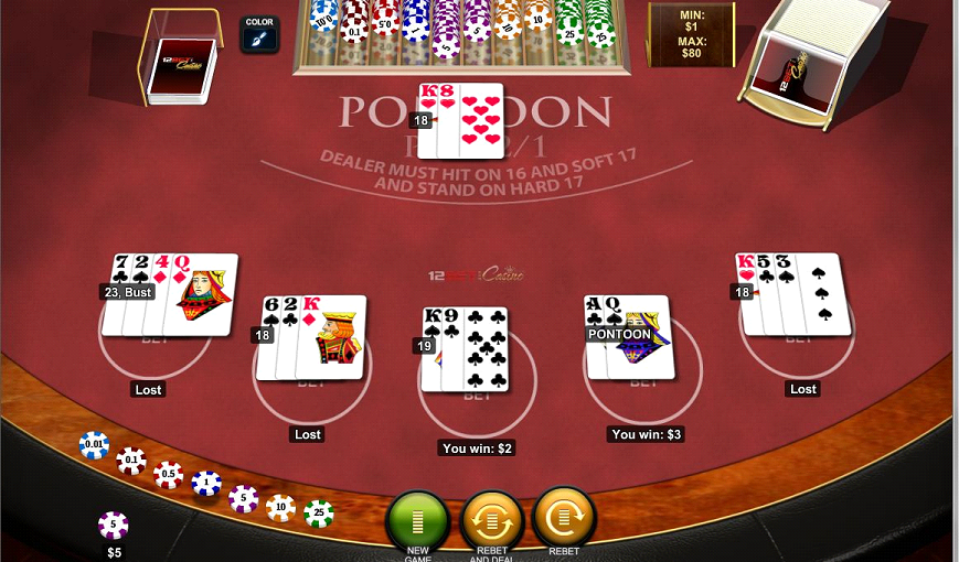 Play Blackjack Pontoon Online at Casino.com India