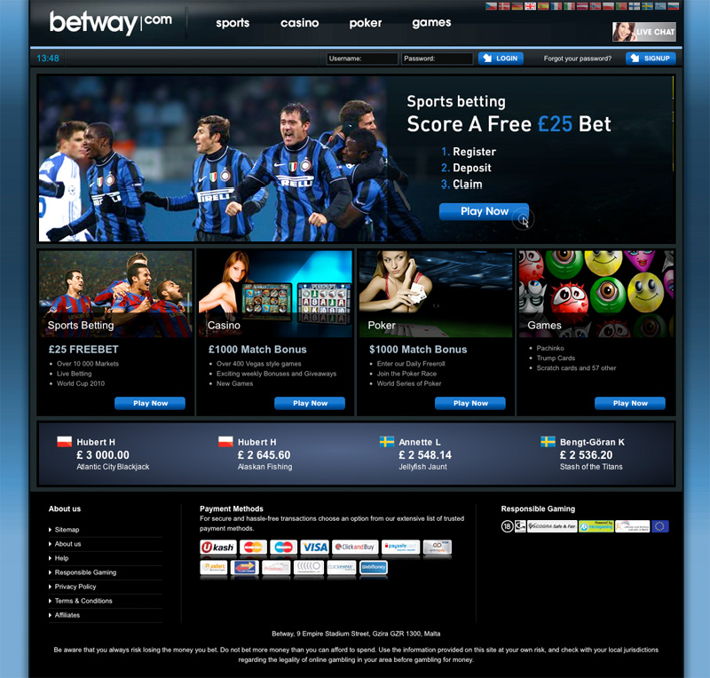 betway page
