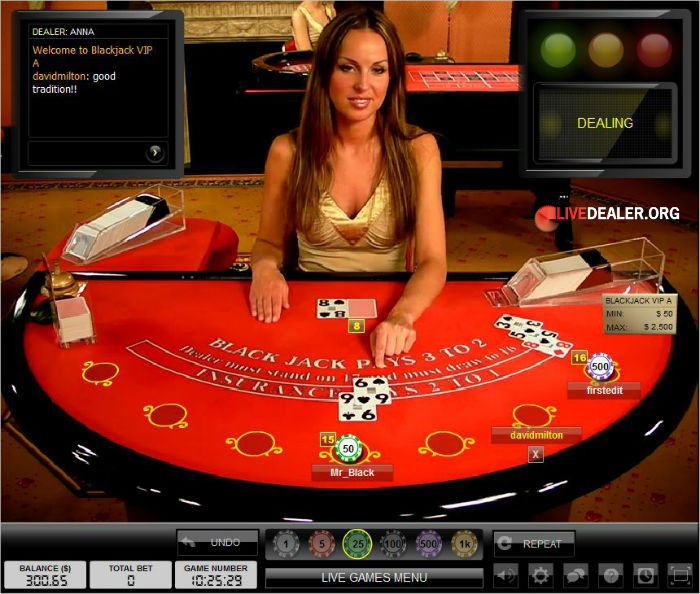 Live Dealer Blackjack Sites