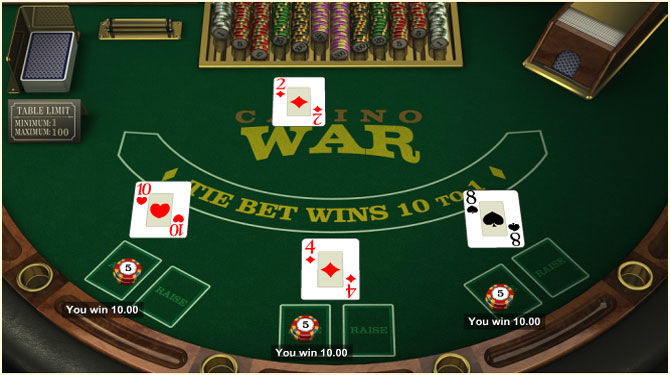 Casino war tips
