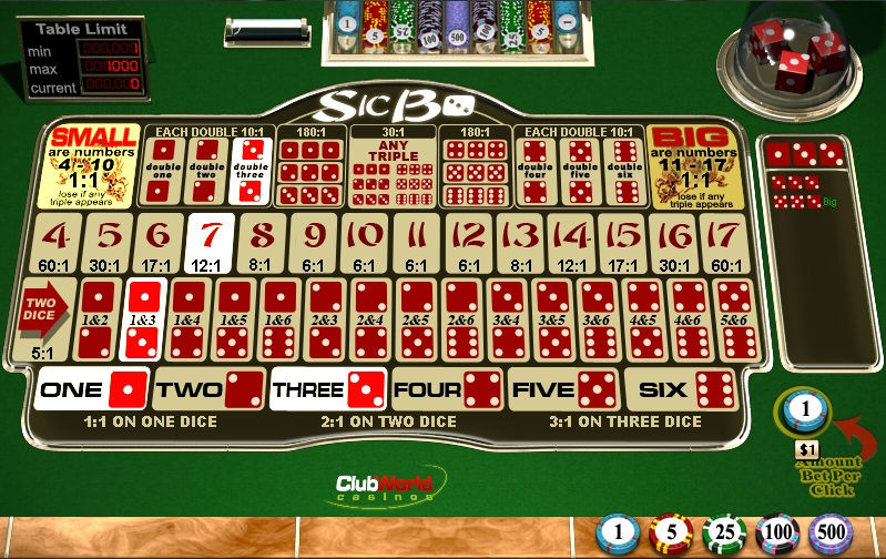 Sic Bo Table Game – Play at Online Casinos for Free or Real